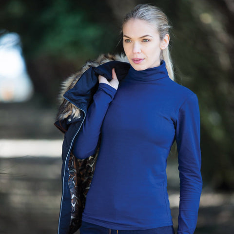 Equetech Cotton Classics Roll Neck in Navy