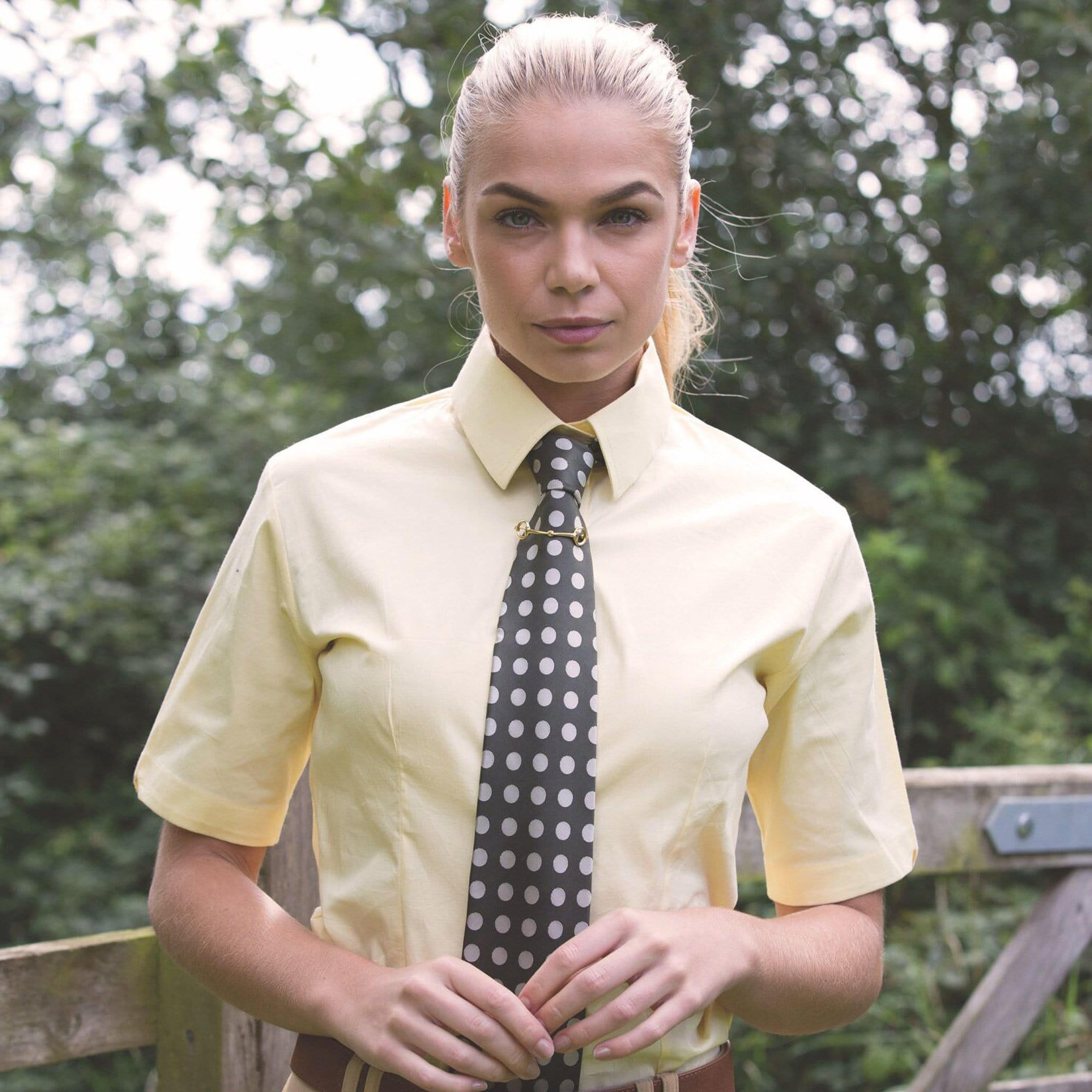 Equetech Flexion Show Shirt Soft Yellow Lifestyle FSS