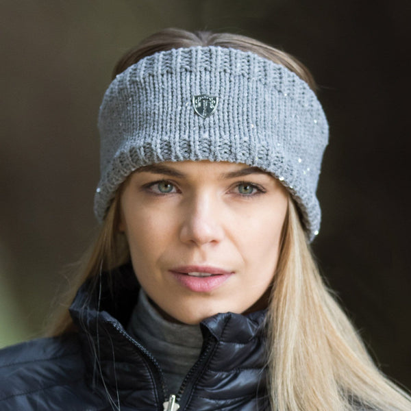 Equetech Frost Knit Headband in Grey