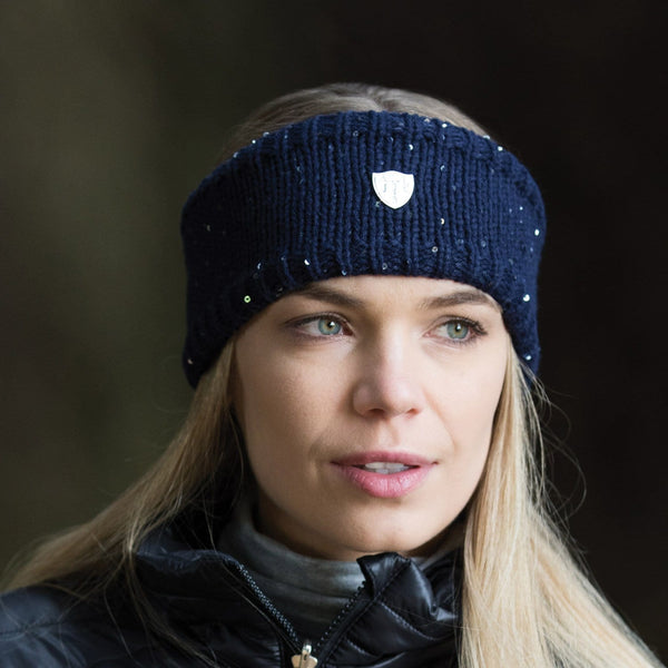 Equetech Frost Knit Headband in Navy