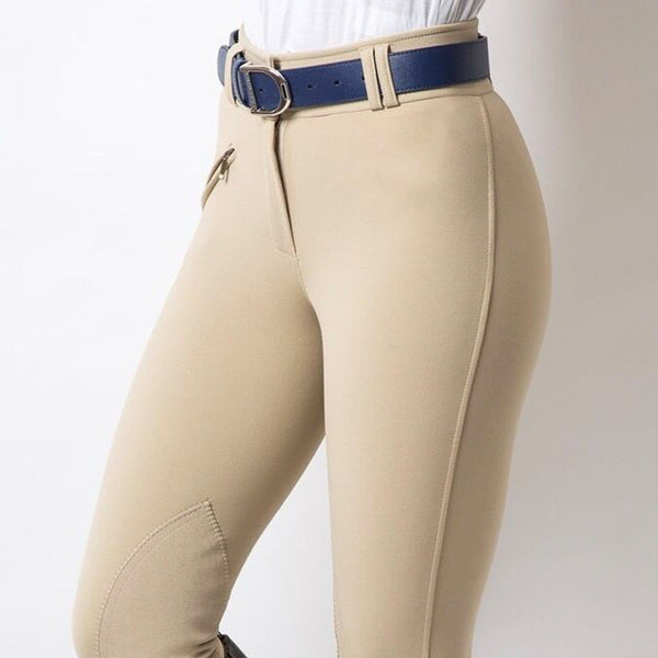 Equetech Hybrid Foxhunter Breeches Close Up LFB