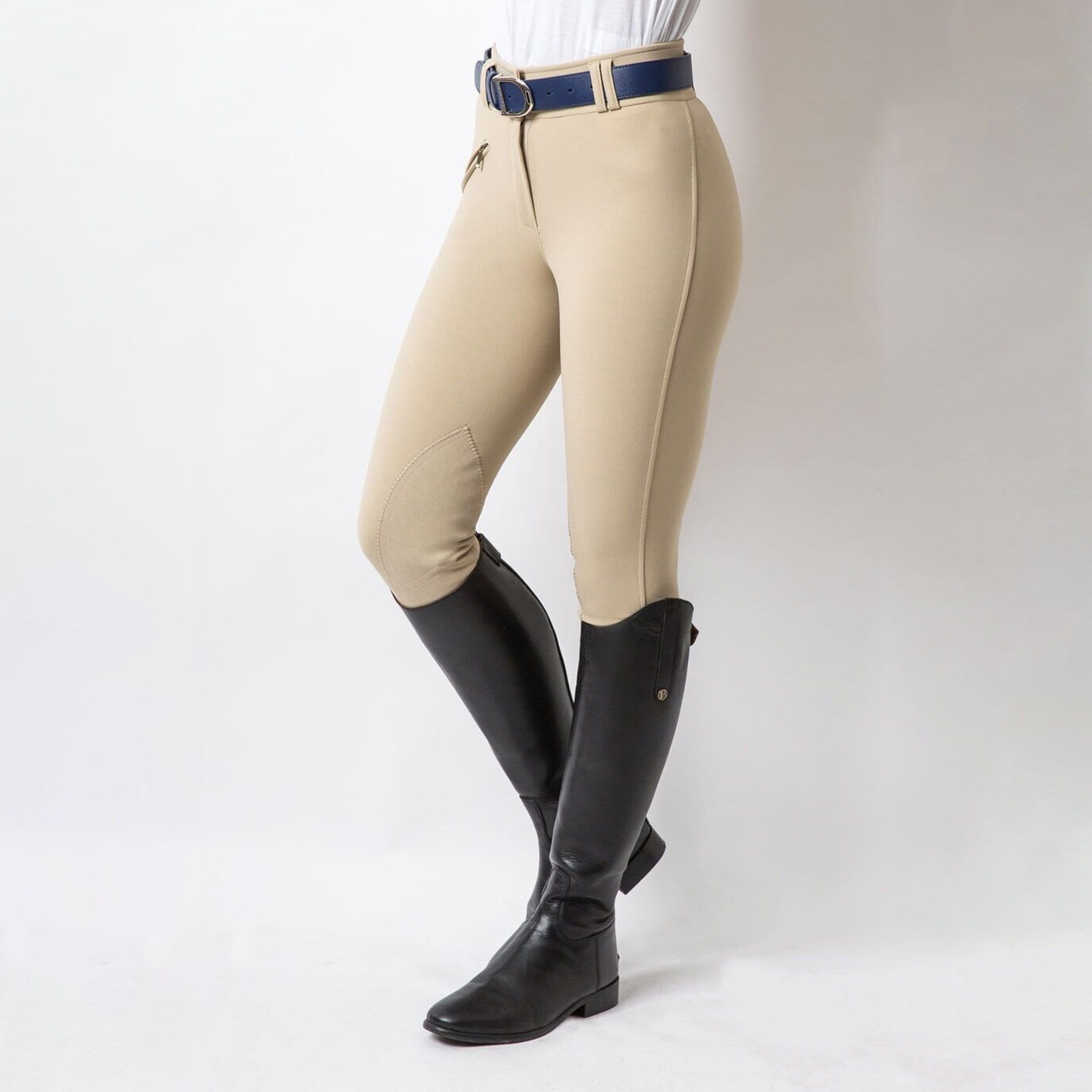 Equetech Hybrid Foxhunter Alos Knee Patch Breeches Studio LFB