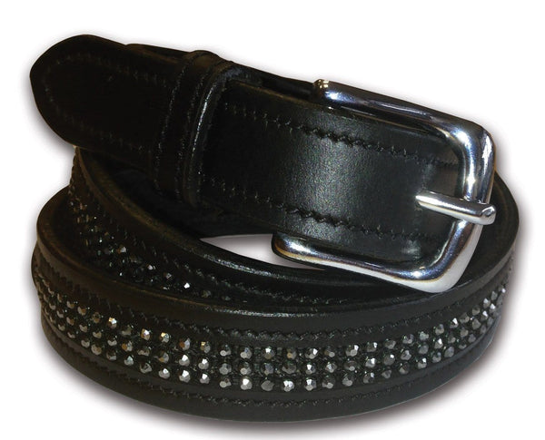 Equetech Inset Crystal Belt with Black Crystal