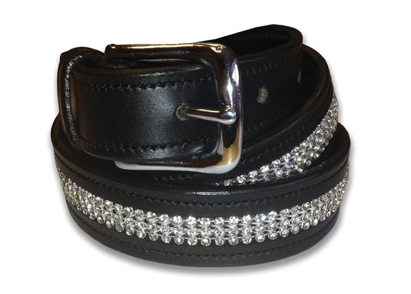 Equetech Inset Crystal Belt with White Crystal