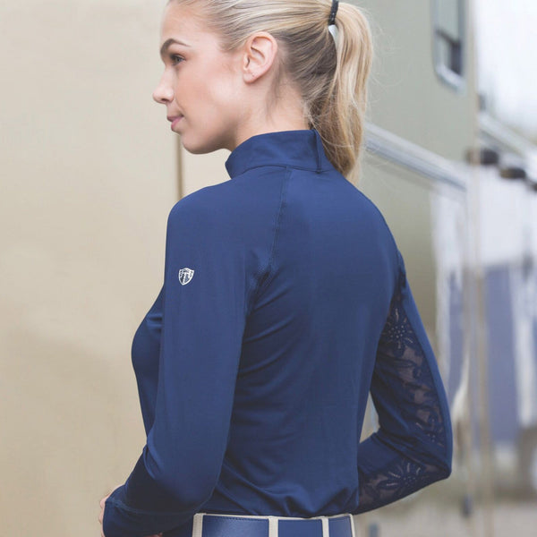 Equetech Isabella Training Shirt Navy Side View IBT