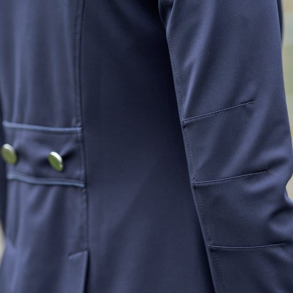 Equetech Jersey Competition Jacket Navy Back Detail JSC