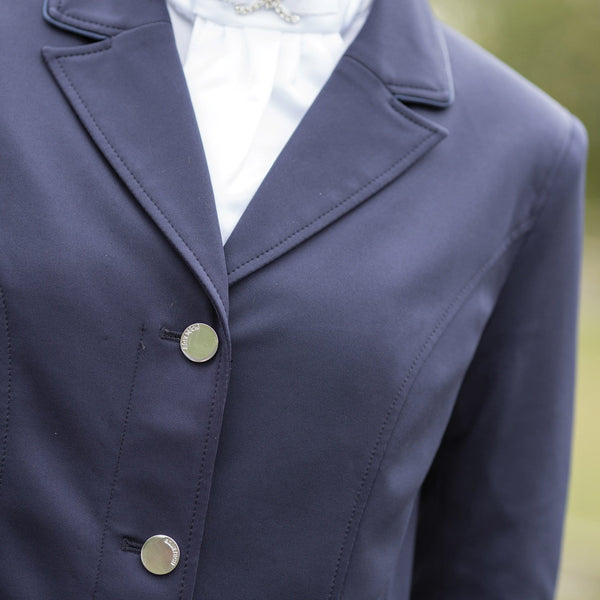 Equetech Jersey Competition Jacket Navy Collar Detail JSC