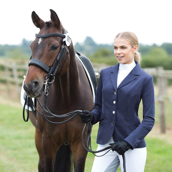 Equetech Jersey Competition Jacket Navy With Horse JSC