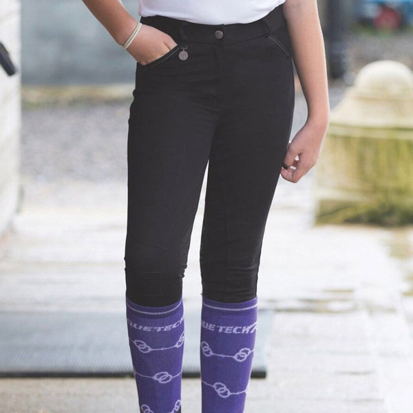 Equetech Junior Interlace Breeches Black JLB