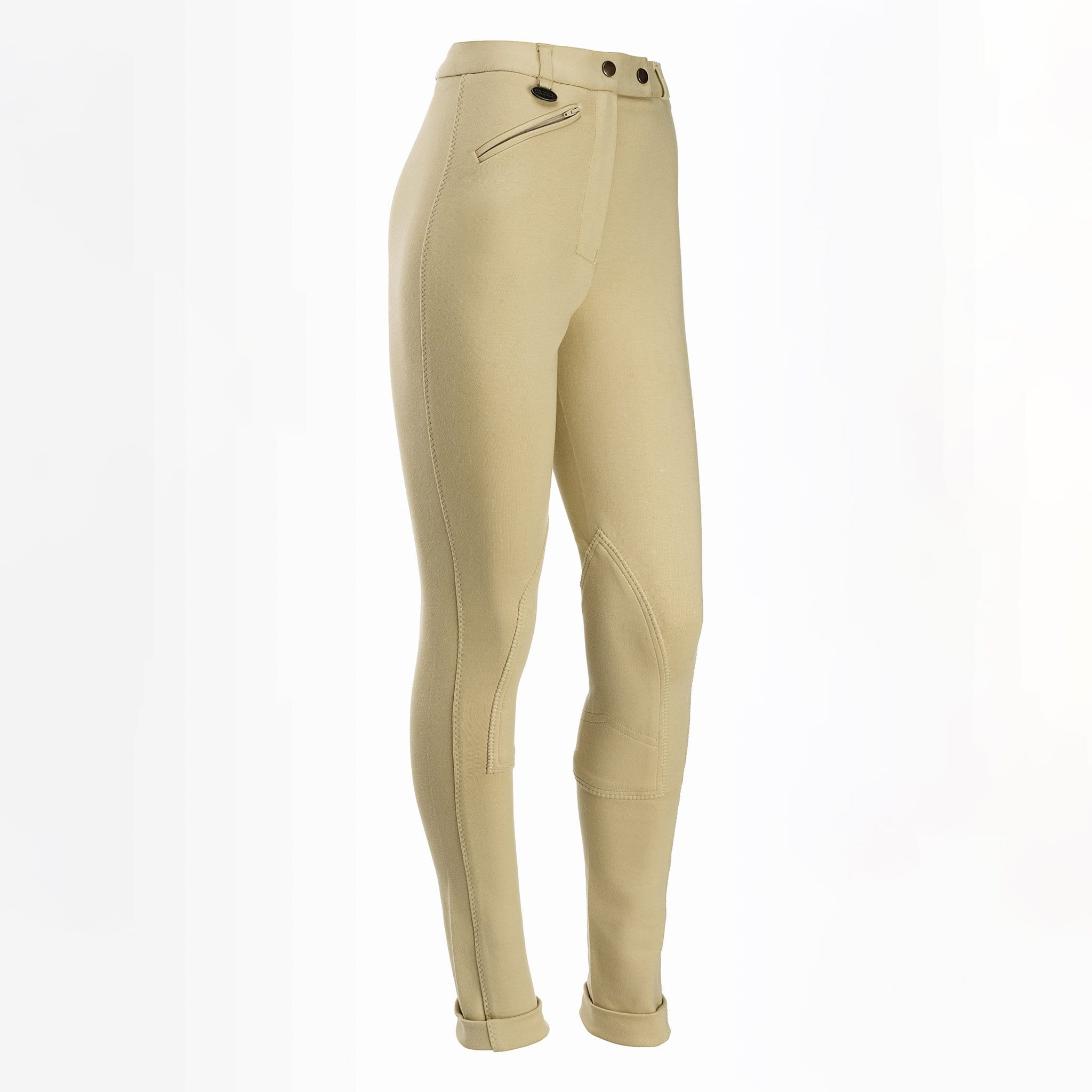 Equetech Children's Prima Knee Patch Jodhpurs Beige Studio CPJ