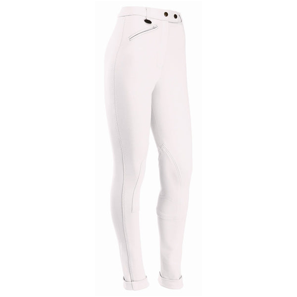 Equetech Junior Prima Jodhpurs in white CPJ WH