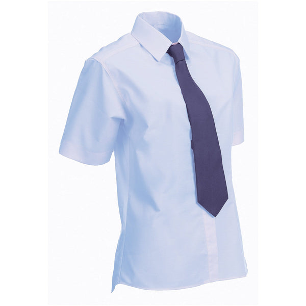 Equetech Junior Stretch Short Sleeved Show Shirt Sky Blue Studio NJS