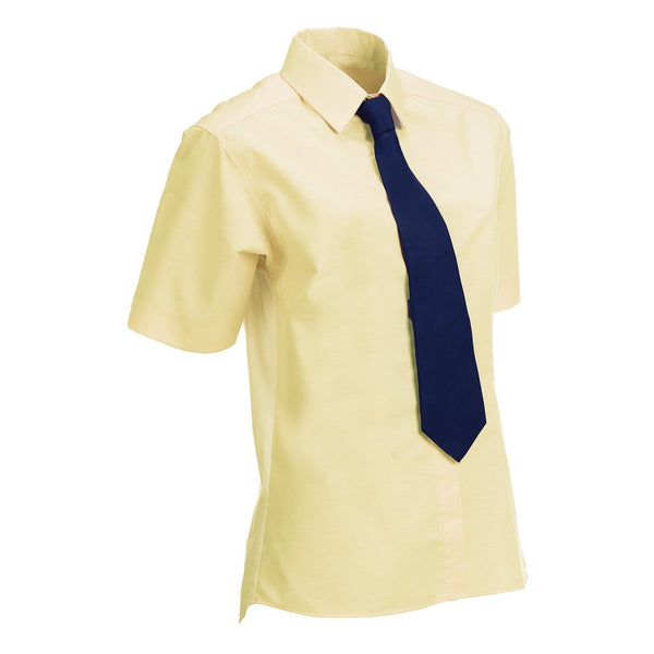 Equetech Junior Stretch Short Sleeved Show Shirt Soft Yellow Studio NJS