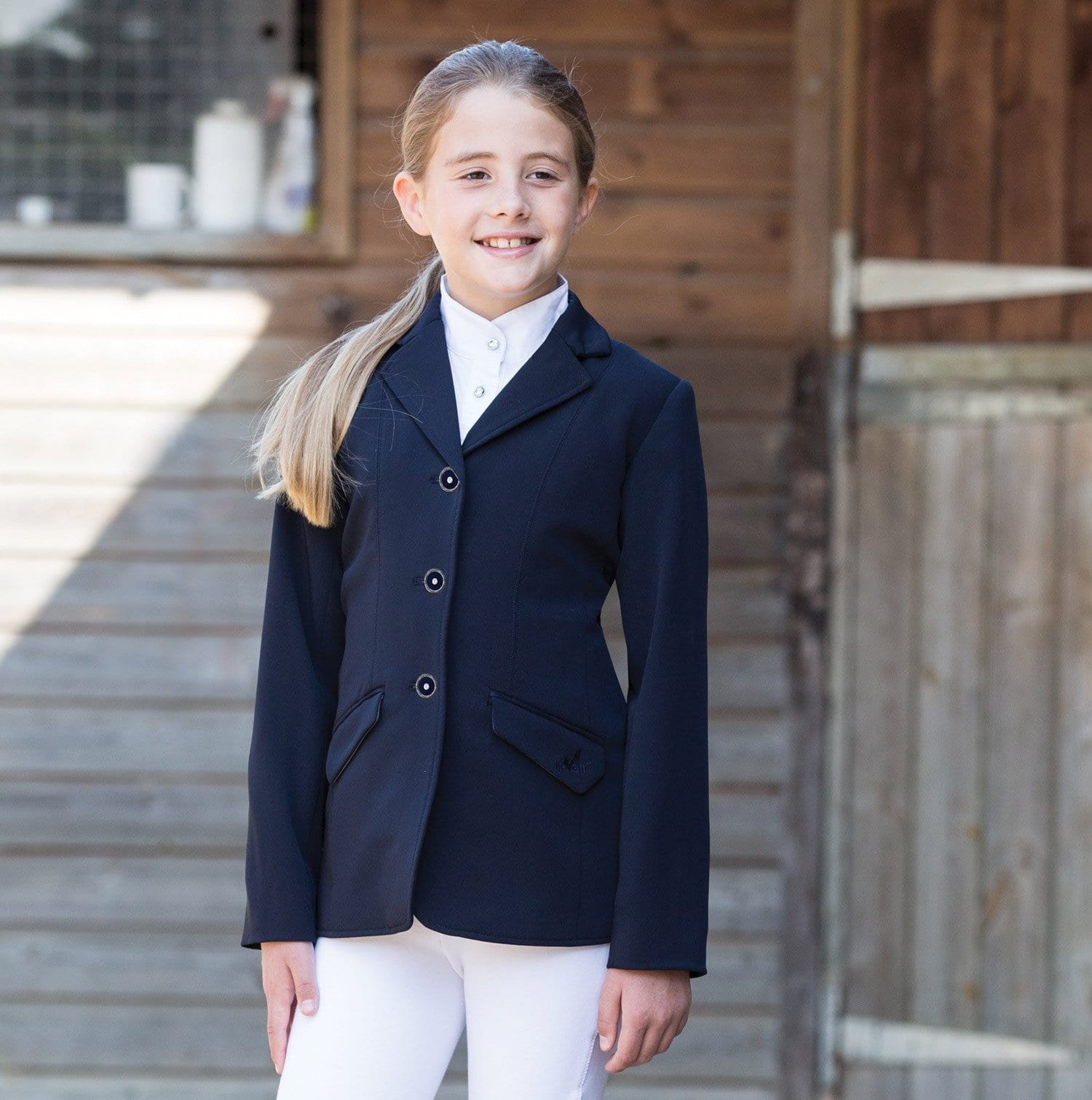 Equetech Junior Triumph Show Jacket - 26 / Navy | EQUUS