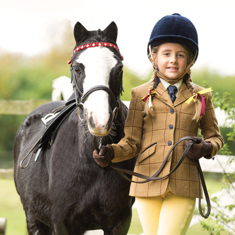 Equetech Junior Wheatley Deluxe Tweed Riding Jacket JWV