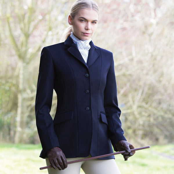 Equetech Kimblewick Wool Riding Jacket Close Up KIM