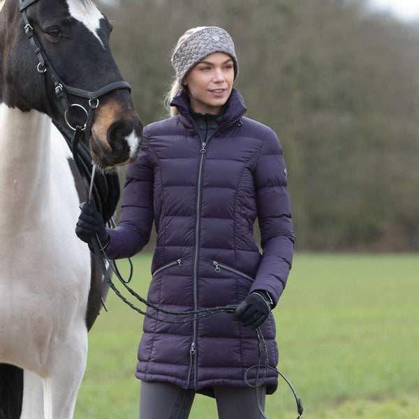 Equetech Lexi Long Packable Coat Blackberry LPC
