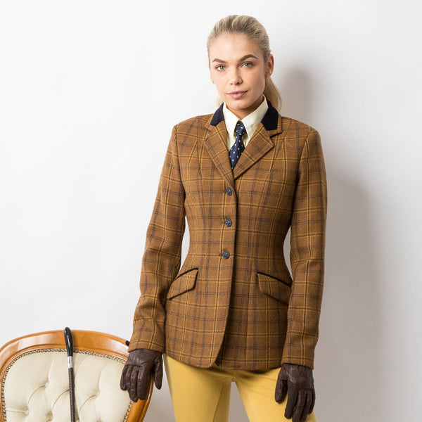 Equetech Marlow Deluxe Tweed Riding Jacket Studio On Model MAV