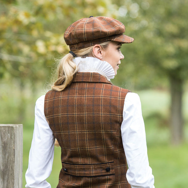 Equetech Marlow Tweed Baker Boy Cap Side View MFC