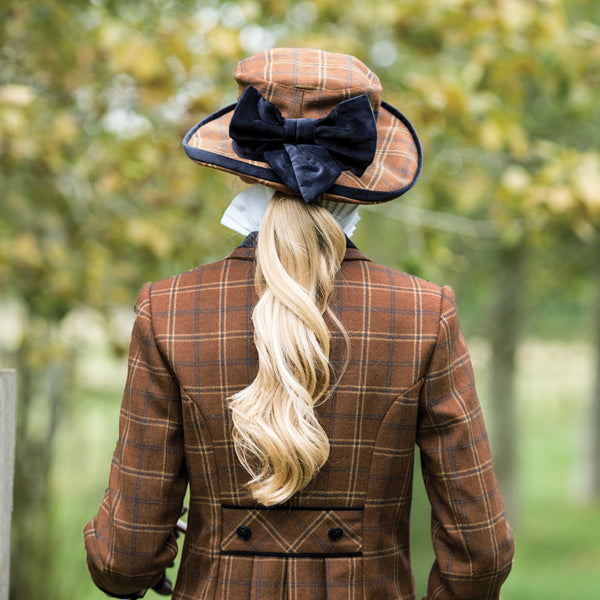 Equetech Marlow Tweed Show Hat Rear View MTH