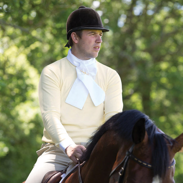 Equetech Men's Foxhunter Shirt worn by Man Riding