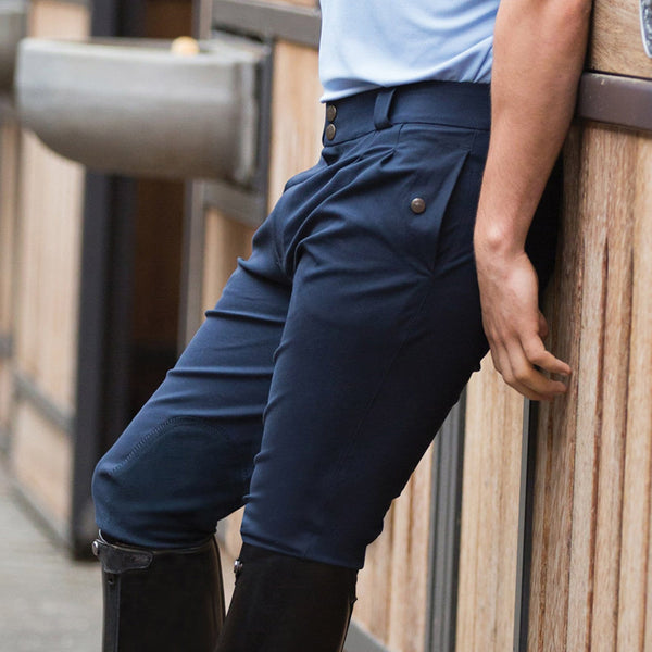 Equetech Men's Rival KS Breeches in Navy Close Up RKS NY