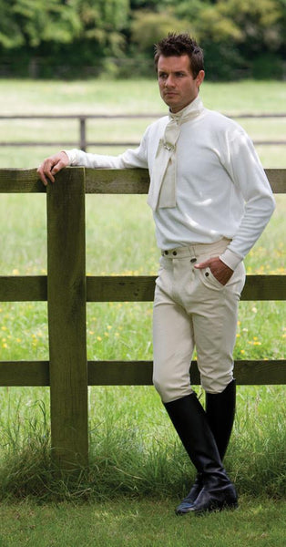Equetech Stag Micro Fleece Stock Shirt worn by a Man