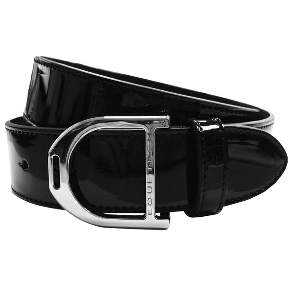 Equetech Stirrup Leather Belt in Patent Black