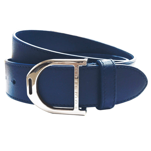 Equetech Stirrup Leather Belt in Blue