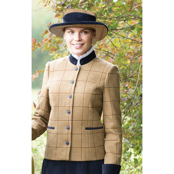 Equetech Wheatley Deluxe Tweed Lead Rein Jacket Front View WLR