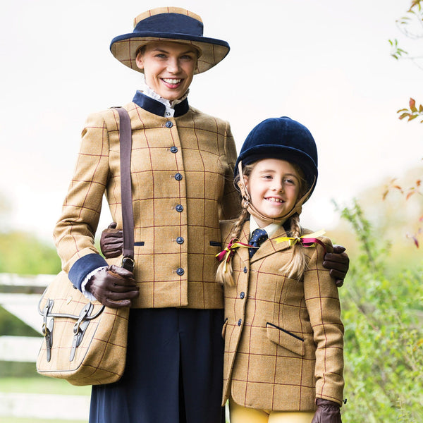 Equetech Wheatley Deluxe Tweed Lead Rein Jacket with child WLR