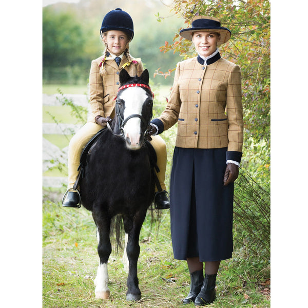Equetech Wheatley Deluxe Tweed Lead Rein Jacket with pony WLR