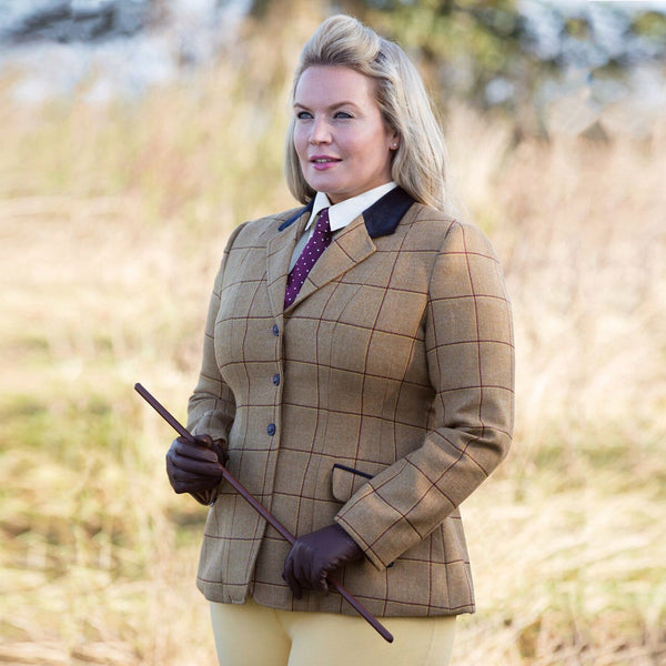 Equetech Wheatley Deluxe Tweed Riding Jacket Curvy WAV