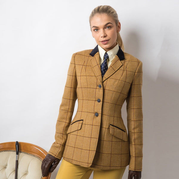 Equetech Wheatley Deluxe Tweed Riding Jacket Studio on Model WAV