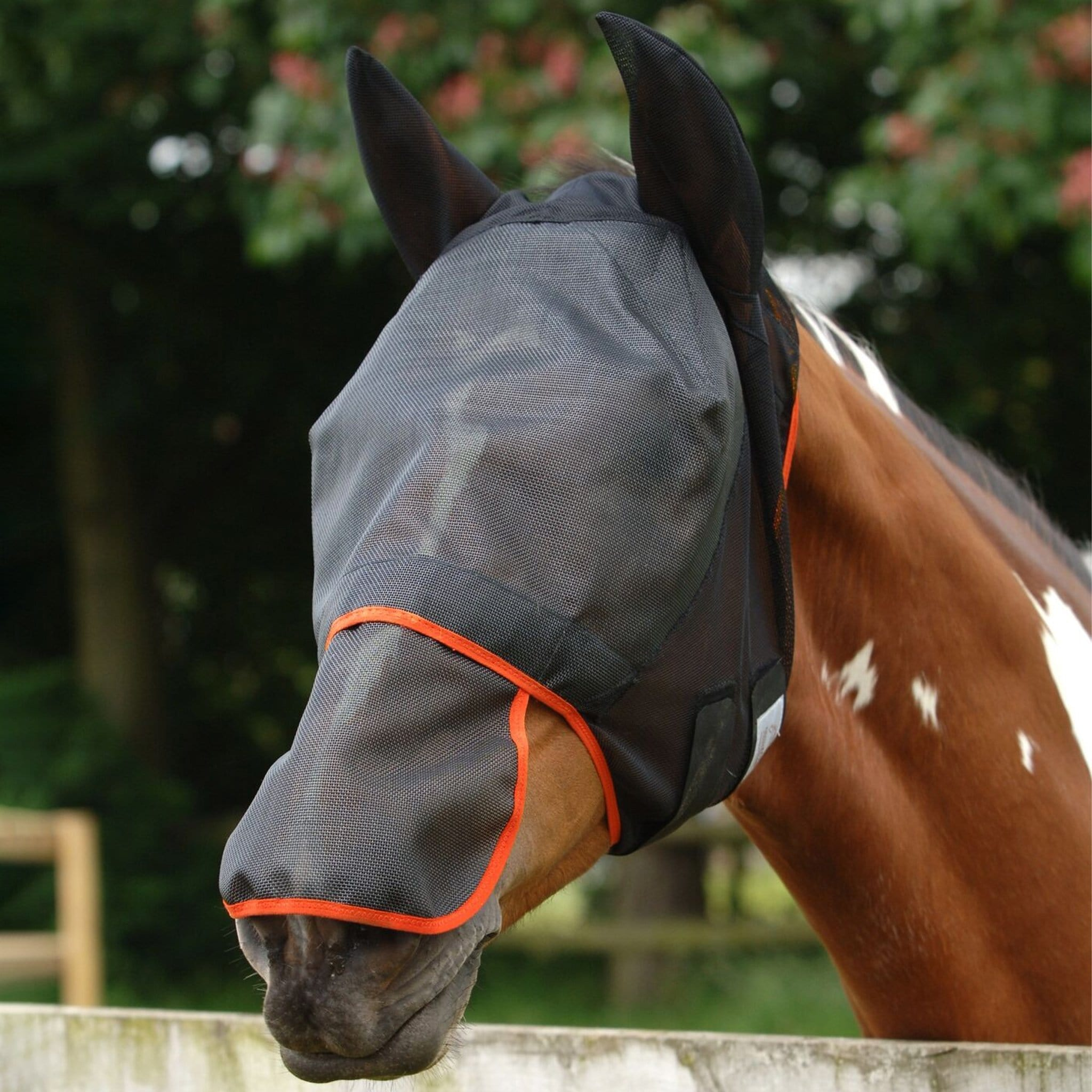 Equilibrium Field Relief Max Fly Mask Black And Orange EQB0340.