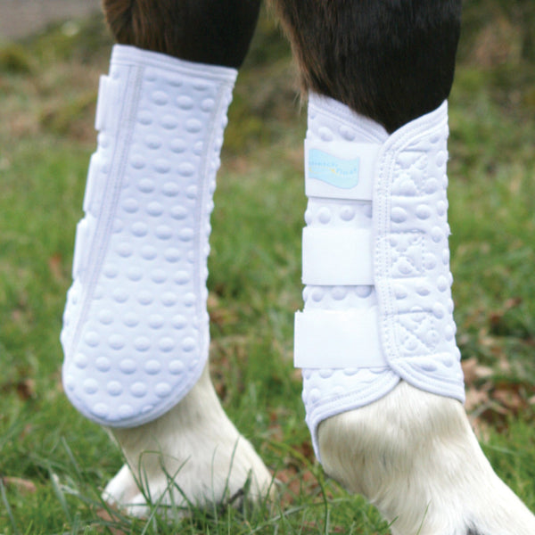 Equilibrium Stretch and Flex Flatwork Wrap worn by Horse