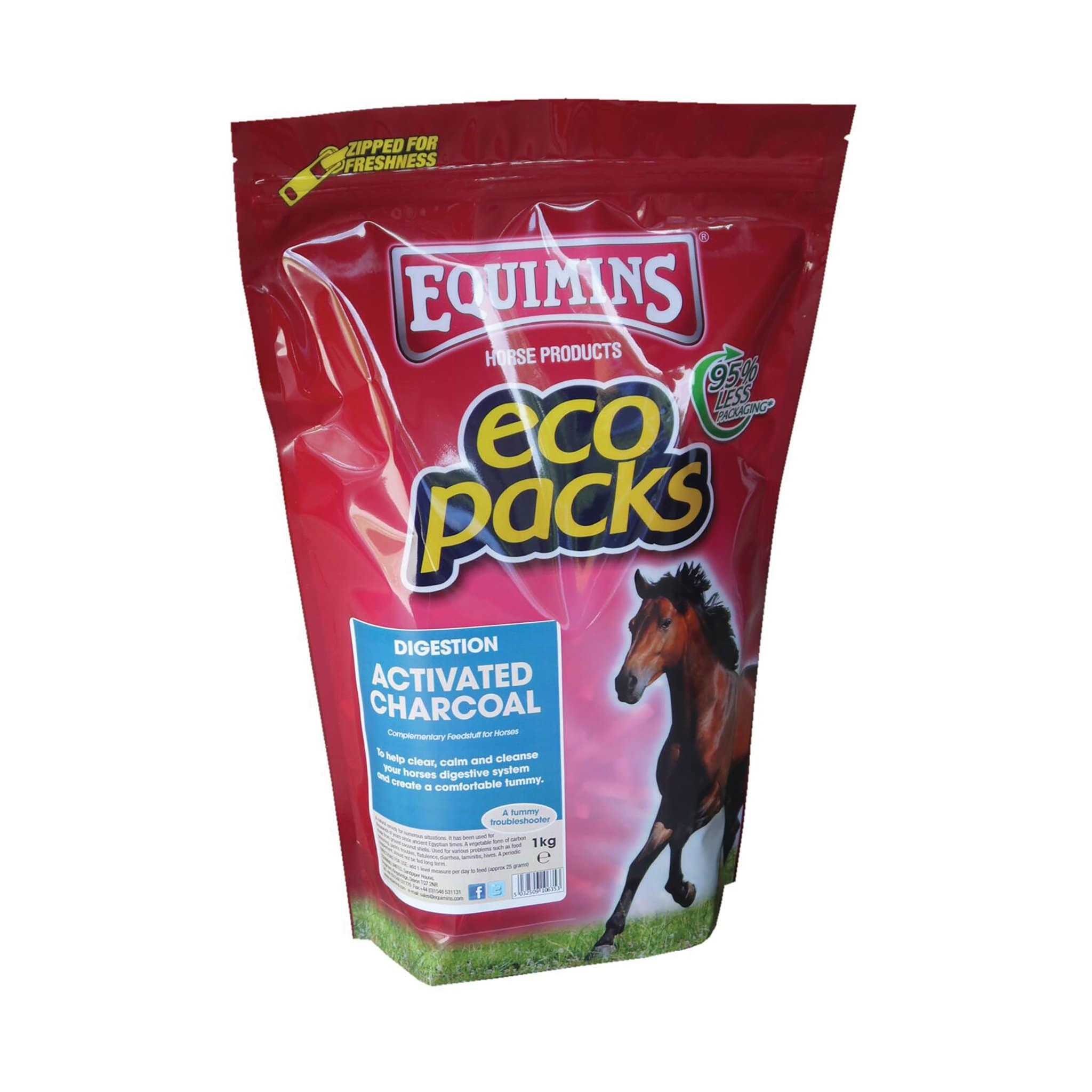 Equimins Activated Charcoal 1KG EQS0510