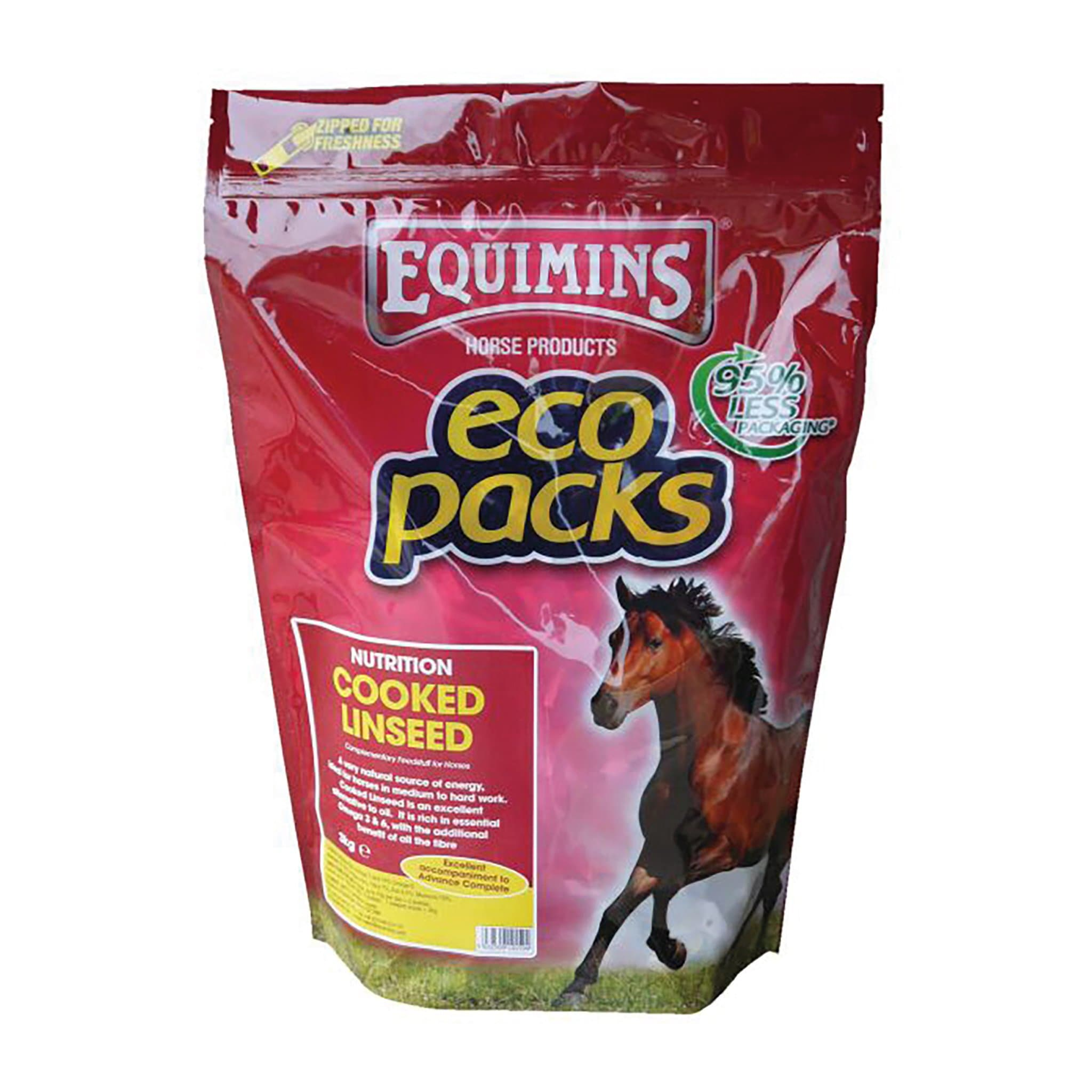 Equimins Cooked Linseed 3KG Eco Pack EQS0206.