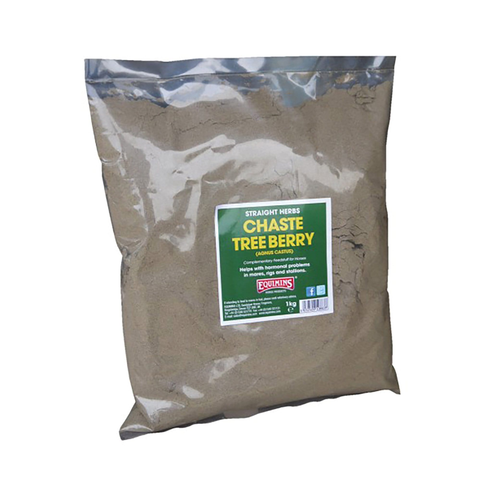 Equimins Straight Herbs Chaste Tree Berry 1KG EQS1315
