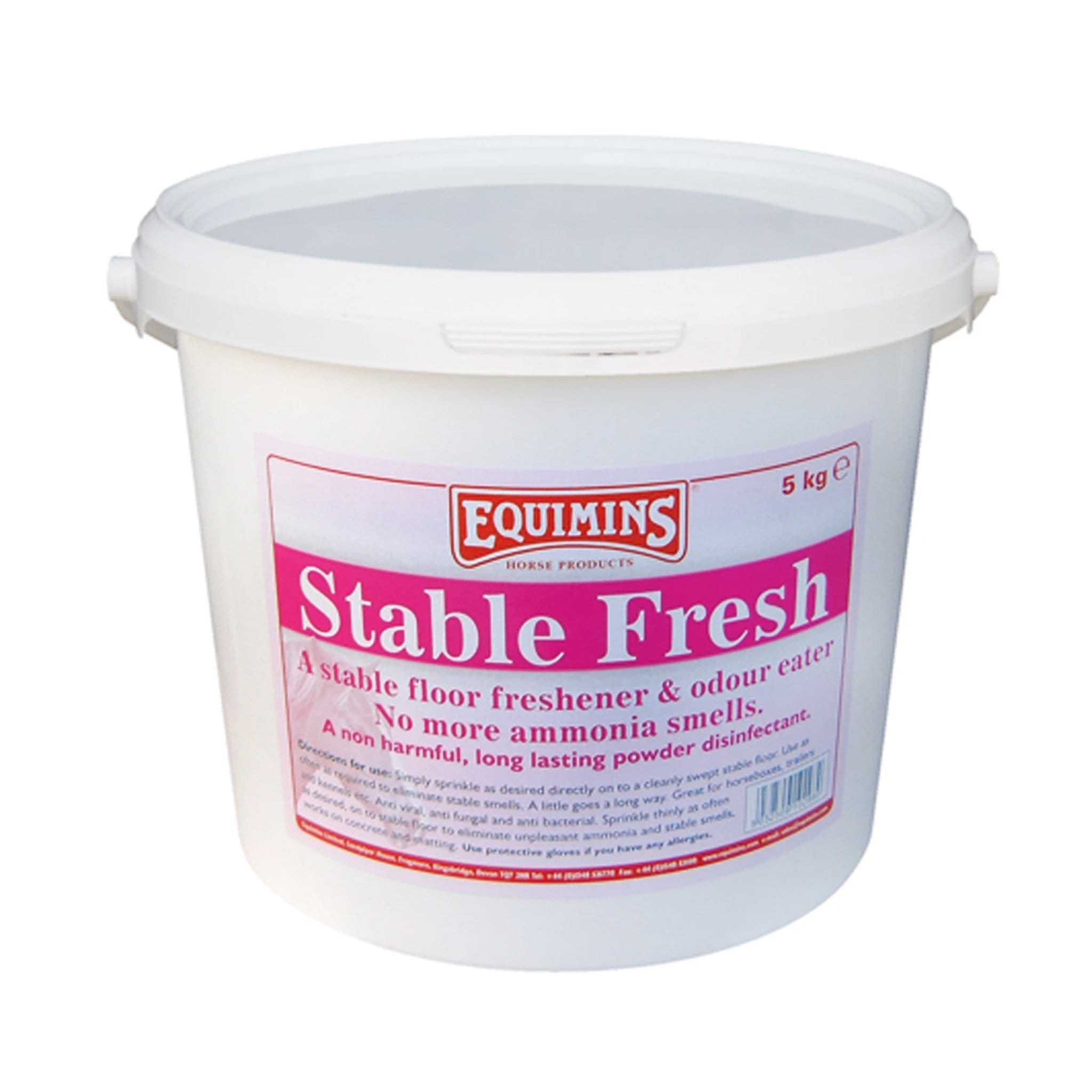 Equimins Stable Fresh Powder Disinfectant EQS10000 5 Kilogram Tub.