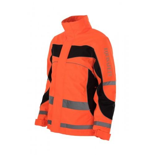 Equisafety Aspey Children's Winter Jacket Orange Front 592417