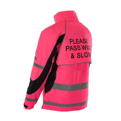 Equisafety Aspey Children's Winter Jacket Pink Rear 614277