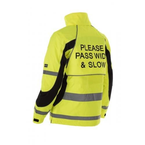 Equisafety Aspey Children's Winter Jacket Yellow Rear 614282
