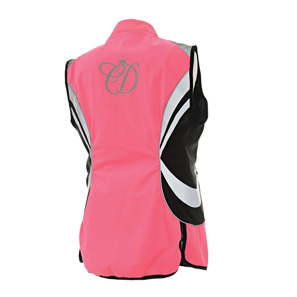 Equisafety Charlotte Dujardin Arret Waistcoat Studio Pink Rear View 807129