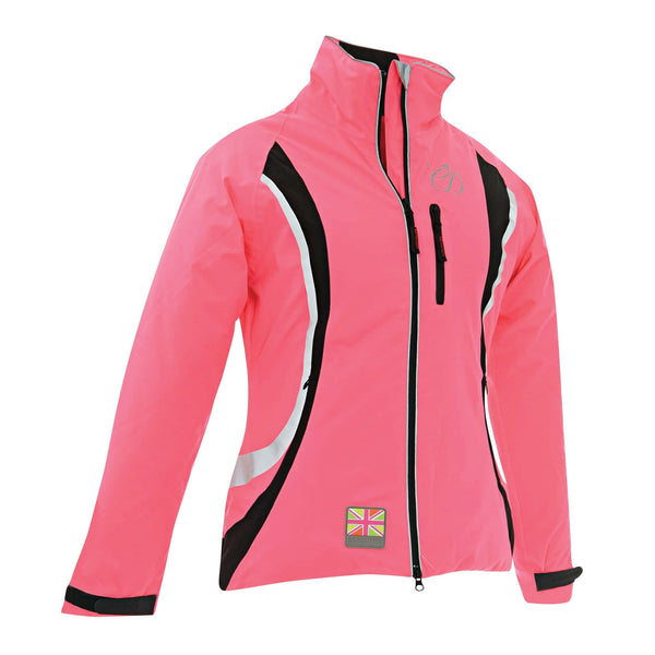 Equisafety Charlotte Dujardin Volte Waterproof Jacket Pink Studio Front View 812482