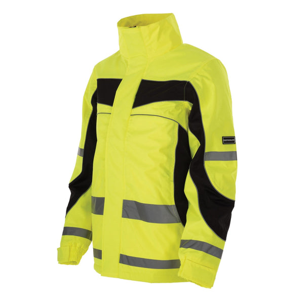 Equisafety Inverno Children's Jacket Yellow Studio Front View 812529