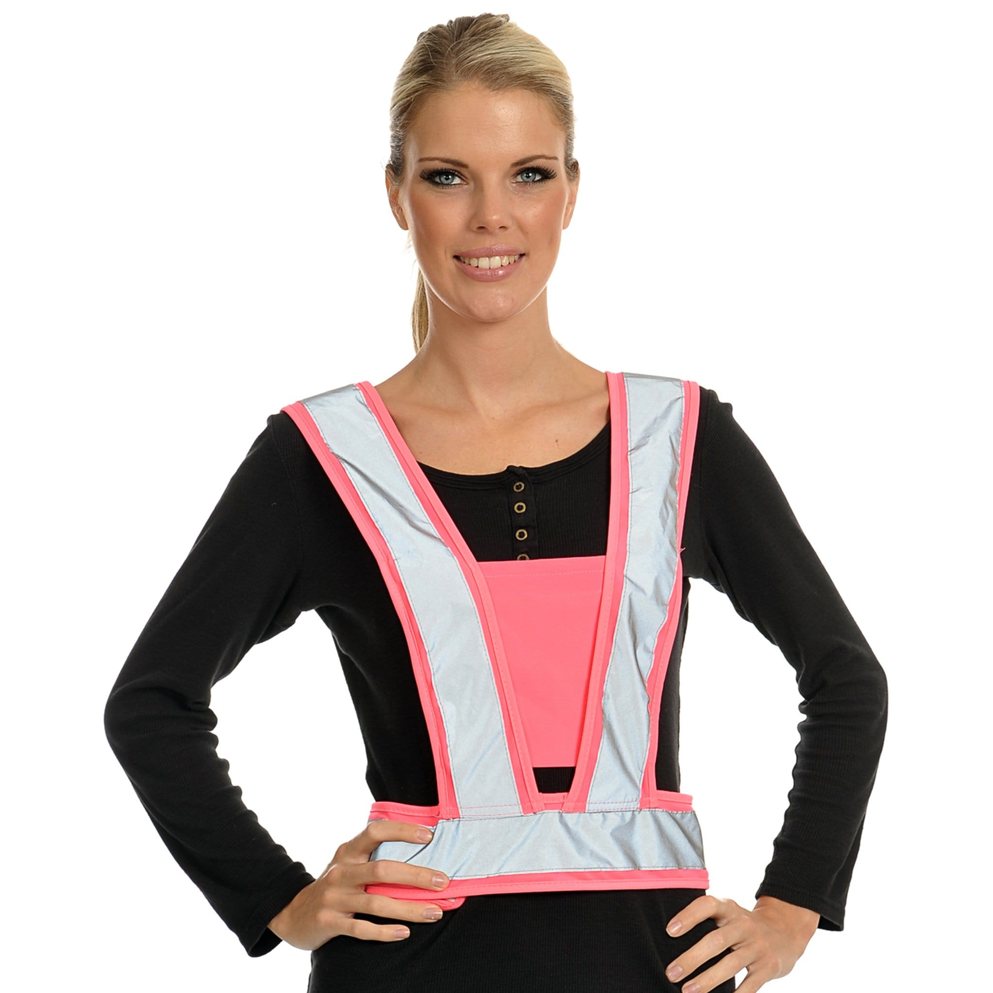 Equisafety Lightweight Body Harness Pink on Model 614292