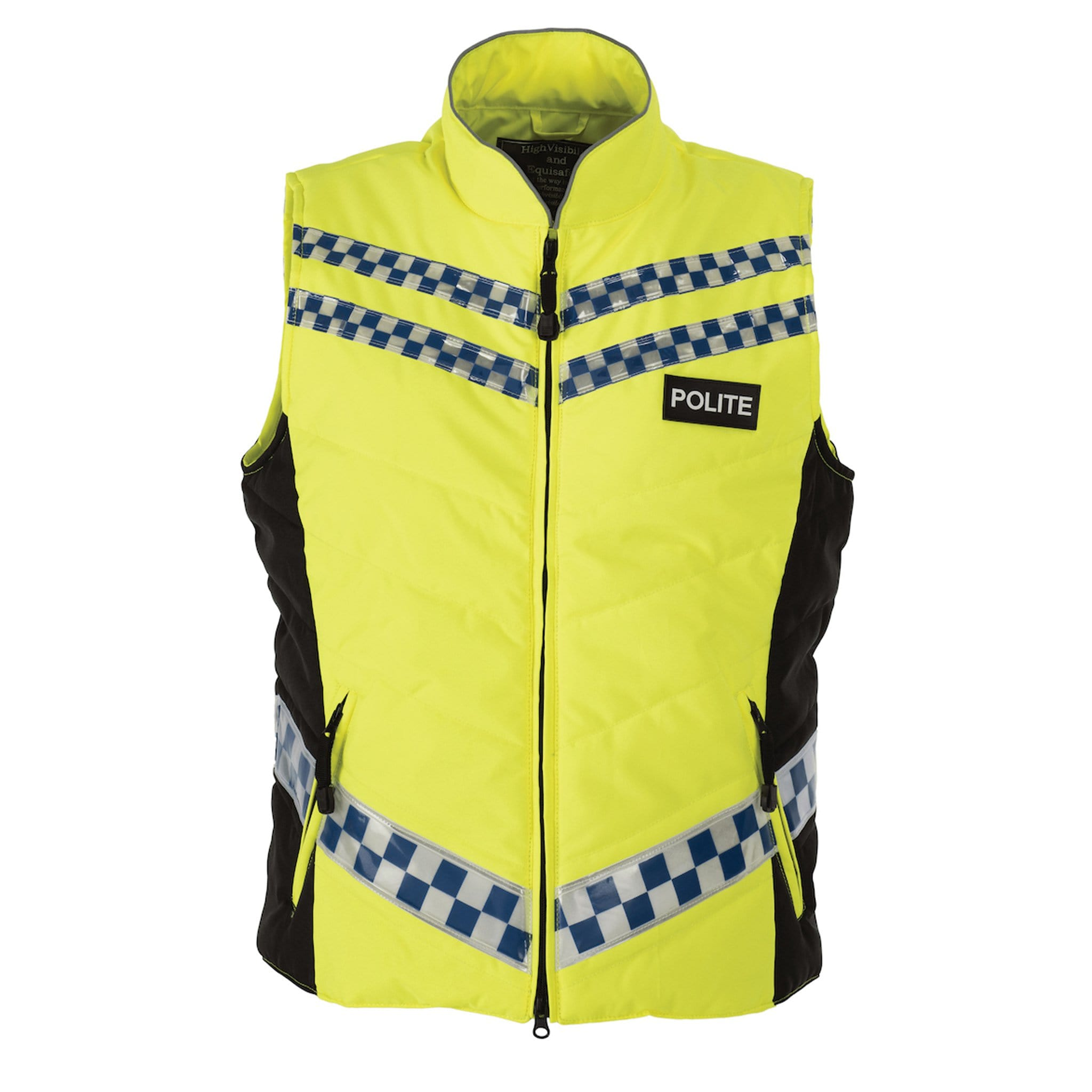 Equisafety Polite Quilted Gilet Front View 577789
