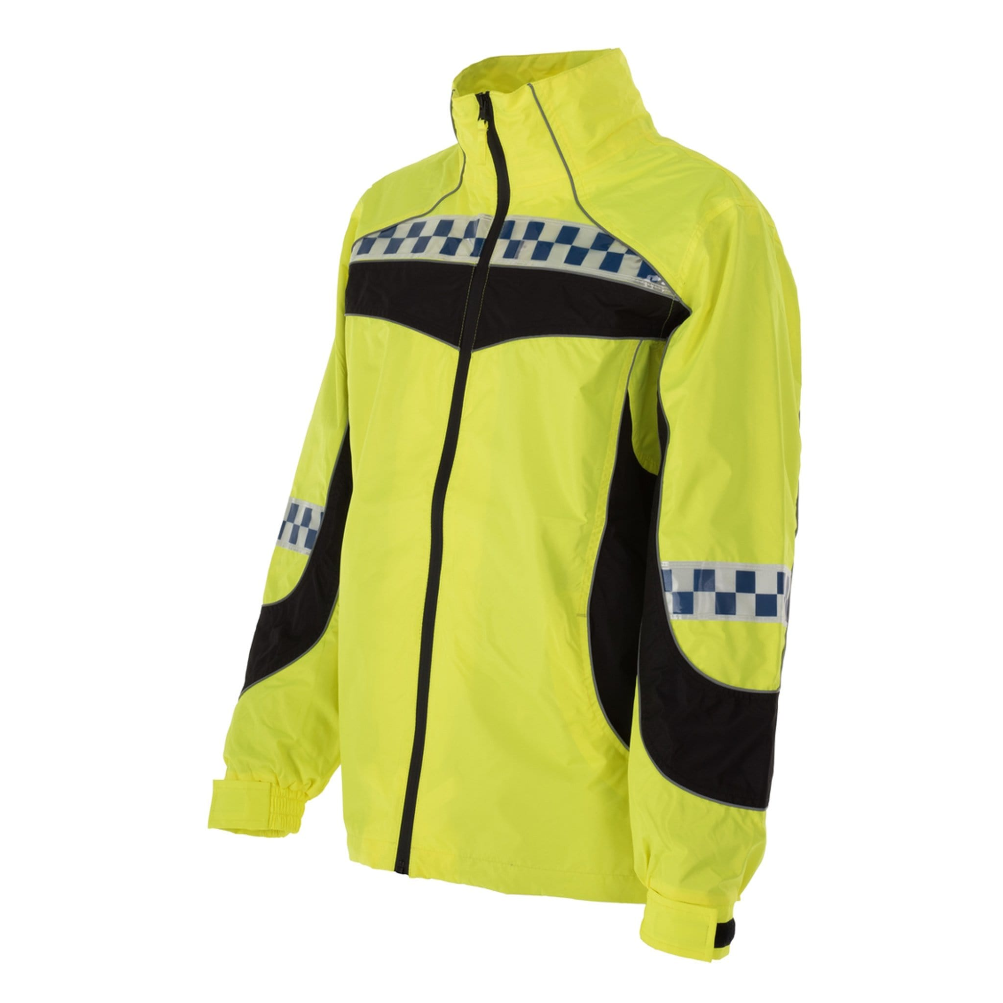 Equisafety Polite Lightweight Jacket Yellow Front View POLLWJO1