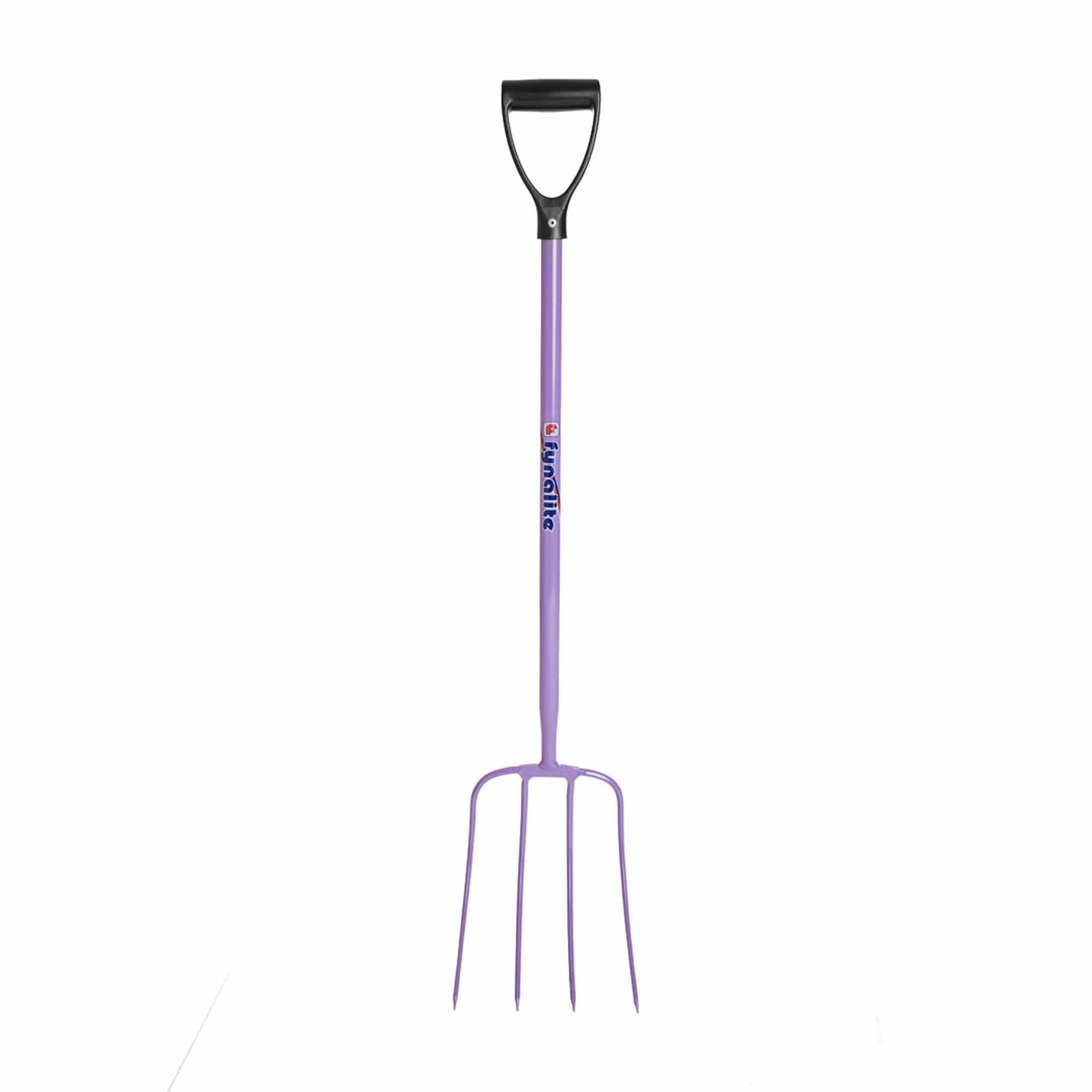 Fyna-Lite Manure Fork Purple 4 Prong Head D Handle